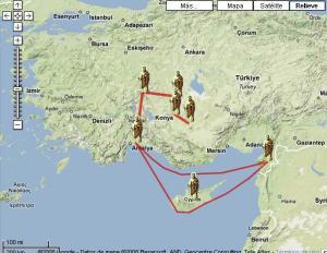 Los viajes del apostol Pablo, en GoogleMaps