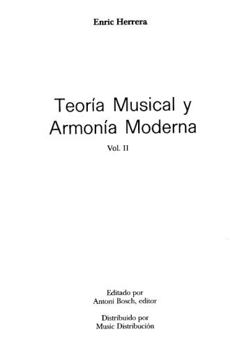 Teoria Musical y Armonia Moderna II